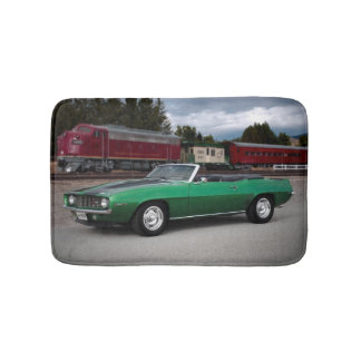 1969 Chevy Camaro Convertible Classic Car Bath Mat