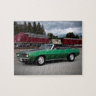 1969 Chevy Camaro Convertible Classic Car Jigsaw Puzzle
