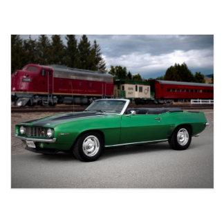1969 Chevy Camaro Convertible Classic Car Postcard