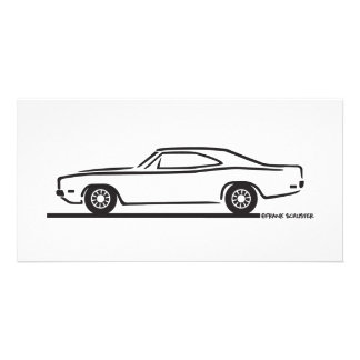 1969 Dodge Charger Customised Photo Card