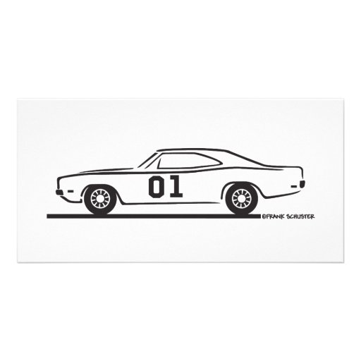 1969 Dodge Charger General Lee Photo Card Template