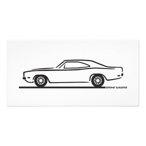 1969 Dodge Charger Photo Card Template