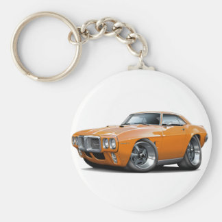 1969 Firebird Orange Car Key Ring