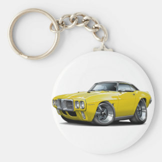 1969 Firebird Yellow-Black Top Car Key Ring