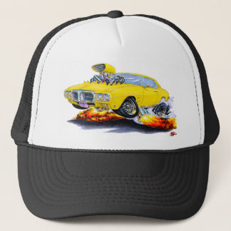 1969 Firebird Yellow Car Trucker Hat