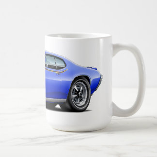 1969 GTO Judge Blue Hidden Headlight Car Coffee Mug