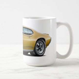 1969 GTO Judge Gold Car Coffee Mug