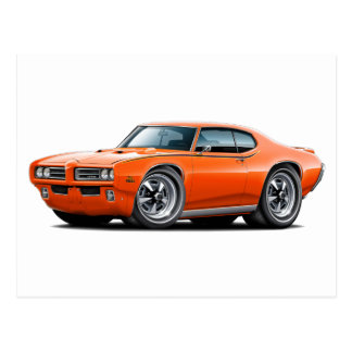 1969 GTO Judge Orange Car Postcard
