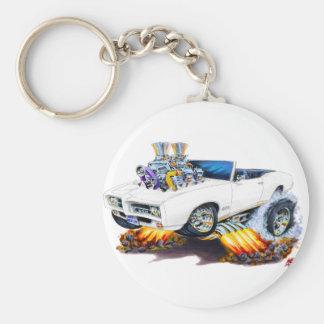 1969 GTO White Convertible Key Ring