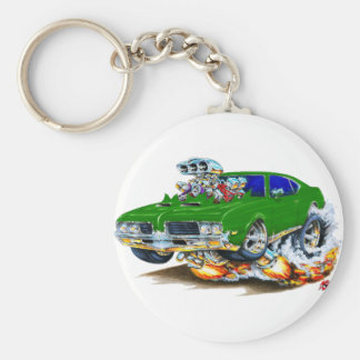 1969 Olds Cutlass Green Car Key Ring