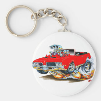1969 Olds Cutlass Red Convertible Key Ring