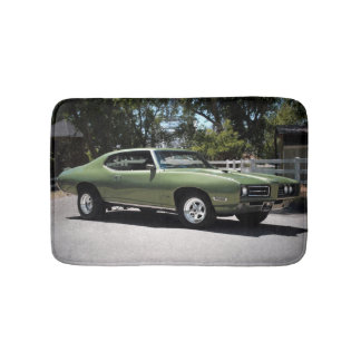1969 Pontiac GTO Green Classic Muscle Car Bath Mat