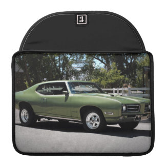 1969 Pontiac GTO Green Classic Muscle Car Sleeve For MacBooks