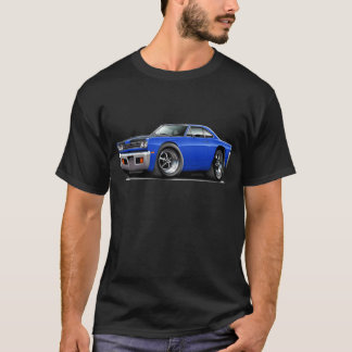 1969 Roadrunner Blue-Black Hood Car T-Shirt