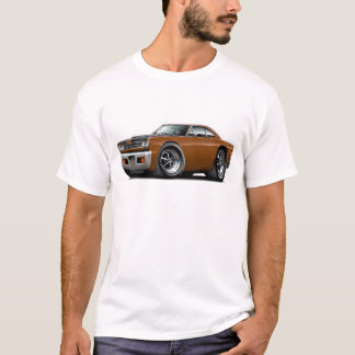 1969 Roadrunner Brown-Black Hood Car T-Shirt