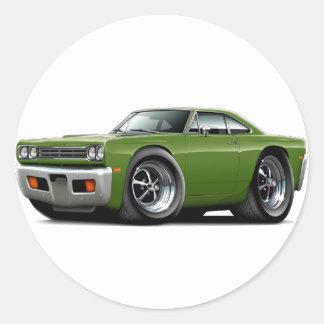 1969 Roadrunner Ivy Car Classic Round Sticker