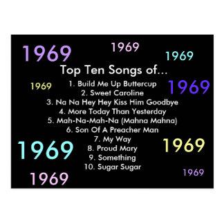 1969 Songs Postcard