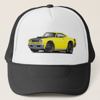 1969 Super Bee Yellow-Black Stock Wheels Trucker Hat
