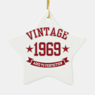 1969 Vintage Aged To Perfection Christmas Ornaments