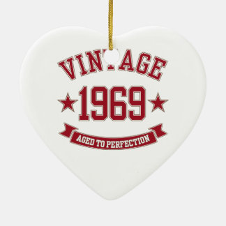 1969 Vintage Aged To Perfection Christmas Ornament