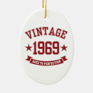 1969 Vintage Aged To Perfection Ornaments