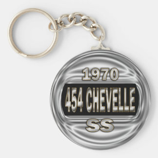 1970 454 Chevelle SS Basic Round Button Key Ring