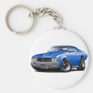 1970-72 Buick GS Blue Car Basic Round Button Key Ring