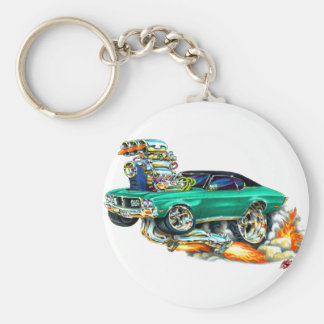 1970-72 Buick GS Green Car Basic Round Button Key Ring