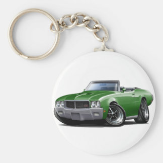 1970-72 Buick GS Green Convertible Basic Round Button Key Ring