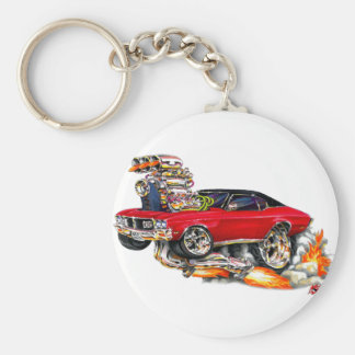 1970-72 Buick GS Red Car Basic Round Button Key Ring