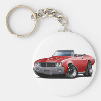 1970-72 Buick GS Red Convertible Basic Round Button Key Ring