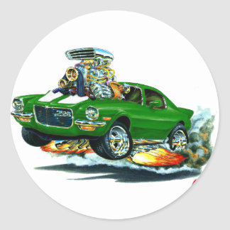 1970-72 Camaro Green-White Car Classic Round Sticker