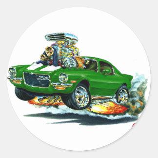 1970-72 Camaro Green-White Car Classic Round Sticker