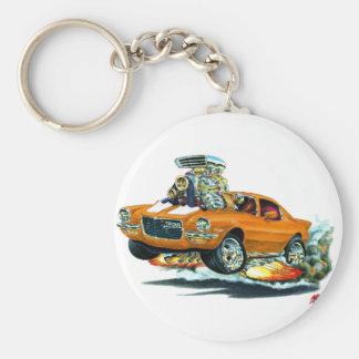 1970-72 Camaro Orange-White Car Basic Round Button Key Ring