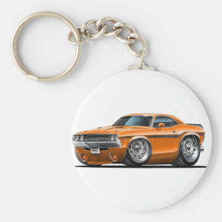 1970-72 Challenger Orange Car Key Ring