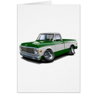 1970-72 Chevy C10 Green-White Truck Card