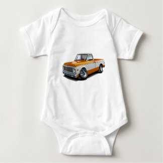 1970-72 Chevy C10 Orange-White Truck Baby Bodysuit