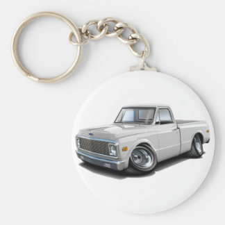 1970-72 Chevy C10 White Truck Key Ring