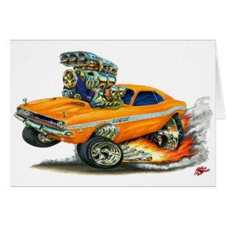 1970-72 Dodge Challenger Orange Car Card