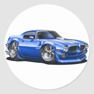 1970/72 Trans Am Blue Car Round Sticker