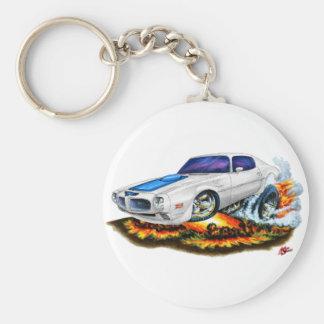 1970-72 Trans Am White Car Basic Round Button Key Ring