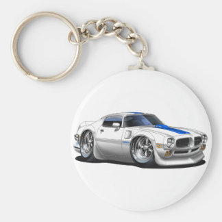 1970/72 Trans Am White Car Key Ring