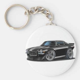 1970-73 Camaro Black Car Basic Round Button Key Ring