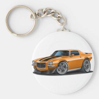 1970-73 Camaro Orn/Blk Car Basic Round Button Key Ring