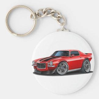 1970-73 Camaro Red/Blk Basic Round Button Key Ring