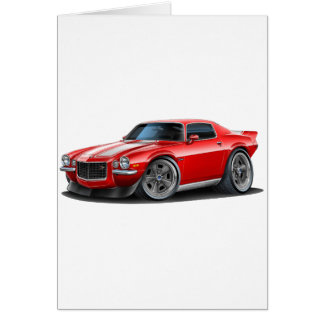 1970-73 Camaro Red/Wht Card