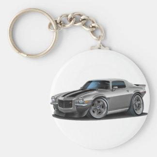 1970-73 Camaro Sil/Blk Car Key Ring