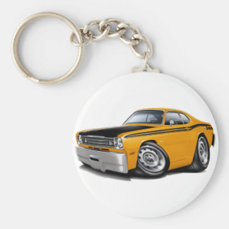 1970-74 Duster 340 Orange Car Key Ring