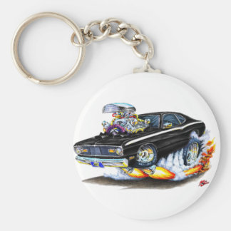 1970-74 Plymouth Duster Black Car Key Ring