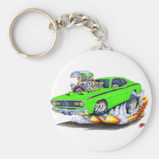 1970-74 Plymouth Duster Lime Car Basic Round Button Key Ring